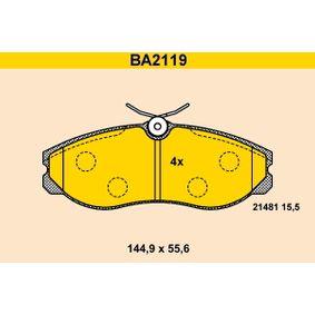 Nissan Terrano 2 R20 2.7TDi 4WD Bremsbeläge Barum BA2119 (2.7TDi 4WD Diesel 2005 TD27TI)