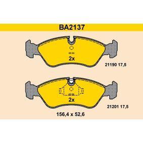 Bremsbelagsatz, Scheibenbremse Breite: 156,4mm, Höhe: 52,6mm, Dicke/Stärke: 17,5mm mit OEM-Nummer 90 511 162