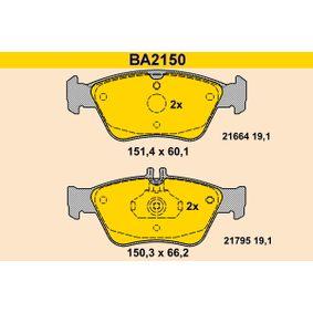 Bremsbelagsatz, Scheibenbremse Breite 1: 151,4mm, Breite 2: 150,3mm, Höhe 1: 60,1mm, Höhe 2: 66,2mm, Dicke/Stärke: 19,1mm mit OEM-Nummer A 002 420 4420