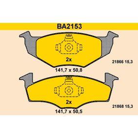 Bremsbelagsatz, Scheibenbremse Art. Nr. BA2153 120,00€