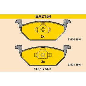 Bromsbeläggssats, skivbroms Artikelnummer BA2154 1900,00kr
