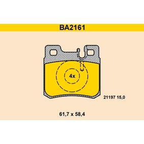 Bremsbelagsatz, Scheibenbremse Breite: 61,7mm, Höhe: 58,4mm, Dicke/Stärke: 15,0mm mit OEM-Nummer A001 420 95 20