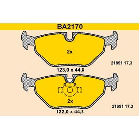 Bremsbelagsatz, Scheibenbremse BA2170 5 Touring (E39) 530i 3.0 Bj 2000