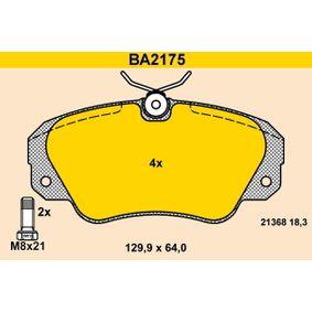 Bremsbelagsatz, Scheibenbremse Breite: 129,9mm, Höhe: 64,0mm, Dicke/Stärke: 18,3mm mit OEM-Nummer 1605004