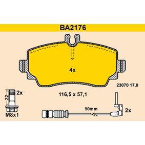 Sensor de Nivel de Combustible MERCEDES-BENZ CLASE A (W168) A 170 CDI (168.008) de Año 07.1998 90 CV: Juego de pastillas de freno (BA2176) para de BARUM
