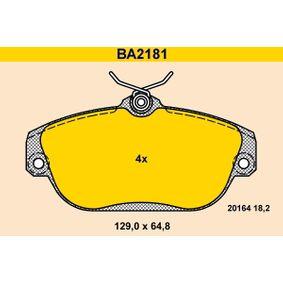 Bremsbelagsatz, Scheibenbremse Art. Nr. BA2181 120,00€
