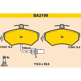 BARUM Bremsbelagsatz, Scheibenbremse BA2198 für AUDI A4 Avant (8E5, B6) 3.0 quattro ab Baujahr 09.2001, 220 PS