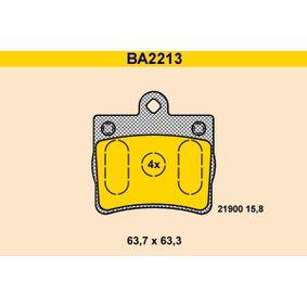 Bremsbelagsatz, Scheibenbremse Breite: 63,7mm, Höhe: 63,3mm, Dicke/Stärke: 15,8mm mit OEM-Nummer A0024205120