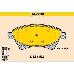 Pastillas de Freno RENAULT SCÉNIC II (JM0/1_) 1.9 dCi (JM14) de Año 05.2005 131 CV: Juego de pastillas de freno (BA2230) para de BARUM