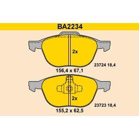 Bremsbelagsatz, Scheibenbremse Breite 1: 155,2mm, Breite 2: 156,4mm, Höhe 1: 62,5mm, Höhe 2: 67,1mm, Dicke/Stärke: 18,4mm mit OEM-Nummer 3071502-3
