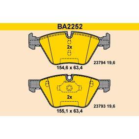 Bremsbelagsatz, Scheibenbremse Breite 1: 154,6mm, Breite 2: 155,1mm, Höhe: 63,4mm, Dicke/Stärke: 19,6mm mit OEM-Nummer 34116797859