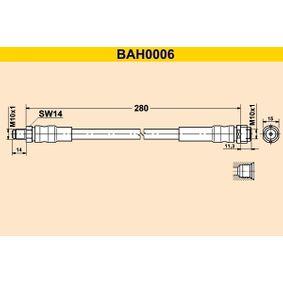 Bremsschlauch Länge: 280mm, Außengewinde: M10x1mm mit OEM-Nummer A1714280035