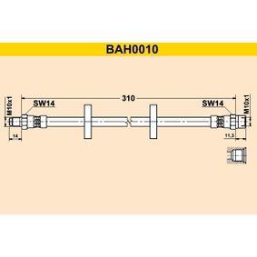 Barum  BAH0010 Bremsschlauch Länge: 310mm, Außengewinde: M10x1mm
