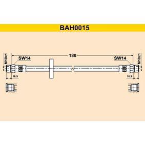 Bremsschläuche für VW GOLF II (19E, 1G1) 1.3 58 PS ab Baujahr 08.1983 BARUM Bremsschlauch (BAH0015) für
