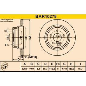 Bremsscheibe Bremsscheibendicke: 10,0mm, Lochanzahl: 5, Ø: 300,0mm mit OEM-Nummer A211 423 0712