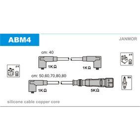 JANMOR Zündleitungssatz ABM4 für AUDI 90 (89, 89Q, 8A, B3) 2.2 E quattro ab Baujahr 04.1987, 136 PS
