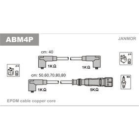 JANMOR Zündleitungssatz ABM4P für AUDI 90 (89, 89Q, 8A, B3) 2.2 E quattro ab Baujahr 04.1987, 136 PS