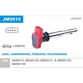 JANMOR Zündspule JM5015 für AUDI A4 Cabriolet (8H7, B6, 8HE, B7) 3.2 FSI ab Baujahr 01.2006, 255 PS