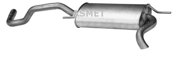 Image of ASMET Silenziatore posteriore 5907804503490