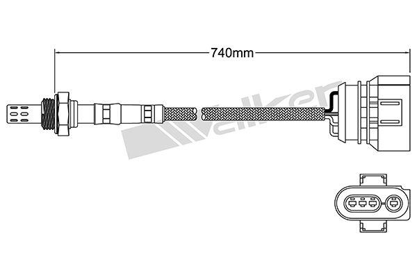 VEGAZ  ULS-156 Lambdasonde Kabellänge: 800mm