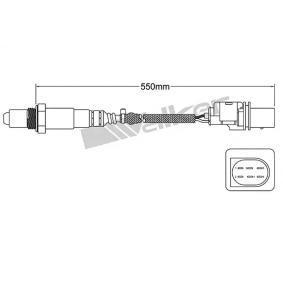 Lambdasonde Kabellänge: 550mm mit OEM-Nummer 39210-2E200