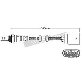 Lambdasonde Kabellänge: 541mm mit OEM-Nummer 036 906 262 F