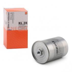 MAHLE ORIGINAL Kraftstofffilter KL 28 für AUDI 90 (89, 89Q, 8A, B3) 2.2 E quattro ab Baujahr 04.1987, 136 PS