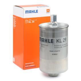 MAHLE ORIGINAL Kraftstofffilter KL 29 für AUDI 80 (81, 85, B2) 1.8 GTE quattro (85Q) ab Baujahr 03.1985, 110 PS