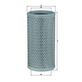 MAHLE ORIGINAL  LX 519 Luftfilter Höhe: 267,0mm
