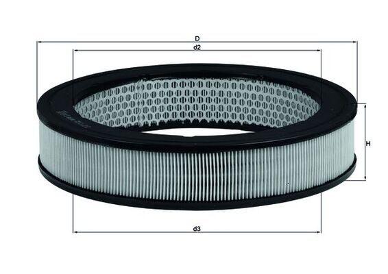 MAHLE ORIGINAL  LX 8 Въздушен филтър височина: 55мм