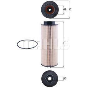Fuel filter Height: 249mm with OEM Number 14 50 184