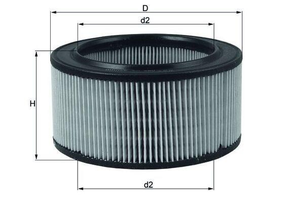 MAHLE ORIGINAL Luftfilter Filtereinsatz  LX 260