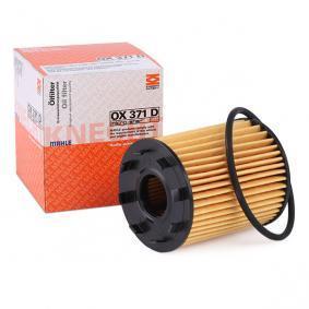 Filtro olio (OX 371D) per per Filtro Olio FIAT GRANDE PUNTO (199) 1.3 D Multijet dal Anno 10.2005 75 CV di MAHLE ORIGINAL