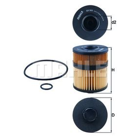Ölfilter Ø: 91,0mm, Innendurchmesser 2: 35,0mm, Höhe: 123,5mm, Höhe 1: 106,0mm mit OEM-Nummer 5 650 338
