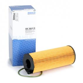 MAHLE ORIGINAL Ölfilter OX 196/3D für AUDI Q7 (4L) 3.0 TDI ab Baujahr 11.2007, 240 PS
