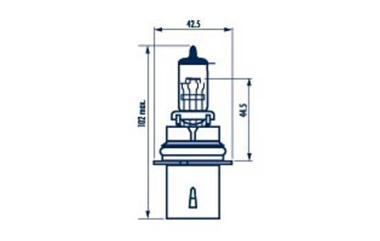 Bulb, spotlight 48004 NARVA HB1 original quality