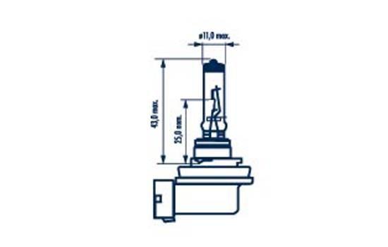 Glühlampe, Fernscheinwerfer 48076 NARVA H8 in Original Qualität