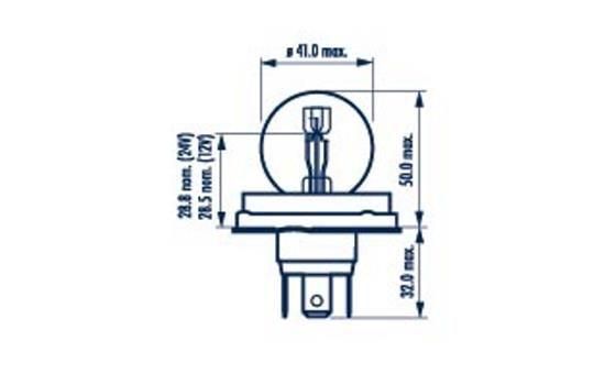 Glühlampe, Fernscheinwerfer 49321 NARVA R2 in Original Qualität