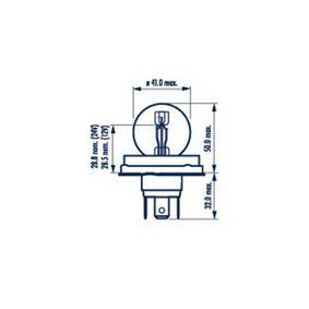 Крушка с нагреваема жичка, фар за дълги светлини R2 (Bilux), 55/50ват, 24волт 49321