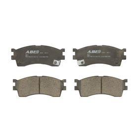 Brake Pad Set, disc brake C10319ABE RIO 2 (JB) 1.6 CVVT MY 2015