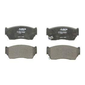 Bremsbelagsatz, Scheibenbremse Breite 1: 44,5mm, Dicke/Stärke 1: 16,5mm mit OEM-Nummer 41060-50Y90