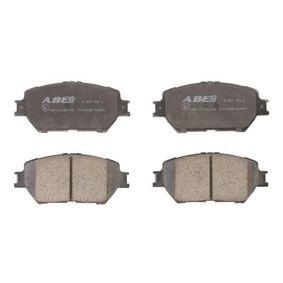 Bremsbelagsatz, Scheibenbremse Höhe: 58,5mm, Dicke/Stärke: 17,5mm mit OEM-Nummer 04465-33240