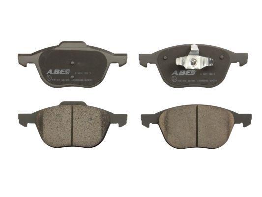 ABE  C13055ABE Bremsbelagsatz, Scheibenbremse Breite 1: 66,9mm, Breite: 62,2mm, Dicke/Stärke: 18,4mm