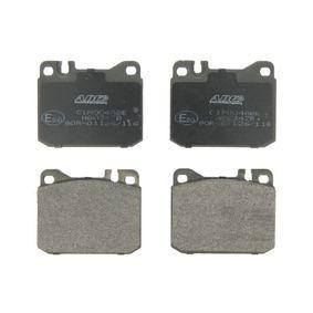 Bremsbelagsatz, Scheibenbremse Breite: 89,7mm, Höhe: 73,8mm, Dicke/Stärke: 17,5mm mit OEM-Nummer A00 042 09 520