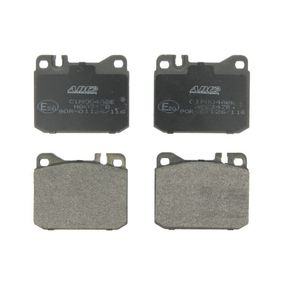 Bremsbelagsatz, Scheibenbremse Breite: 89,7mm, Höhe: 73,8mm, Dicke/Stärke: 17,5mm mit OEM-Nummer A 000 420 6020
