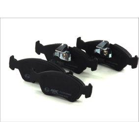 Bremsbelagsatz, Scheibenbremse Breite: 156,4mm, Höhe: 52,8mm, Dicke/Stärke: 18,1mm mit OEM-Nummer 9051 1162