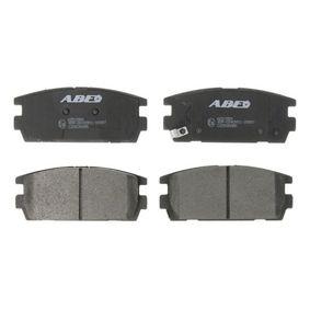 Bremsbelagsatz, Scheibenbremse Höhe: 45,5mm, Dicke/Stärke: 16,2mm mit OEM-Nummer 58302H1A00