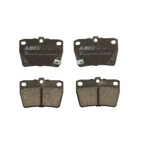Brake Pad Set, disc brake C22027ABE RAV 4 II (CLA2_, XA2_, ZCA2_, ACA2_) 2.0 D 4WD (CLA20_, CLA21_) MY 2001