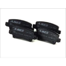 Bremsbelagsatz, Scheibenbremse Höhe: 38mm, Dicke/Stärke: 15,8mm mit OEM-Nummer 04466-02020