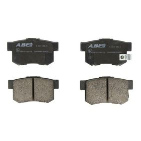 Brake Pad Set, disc brake Width: 88,8mm, Height: 47,6mm, Thickness: 15mm with OEM Number 43022- S9A-E52
